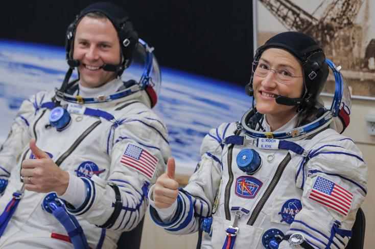 Űrrekorder lesz nőként Christina Koch, tizenegy hónap odafent!