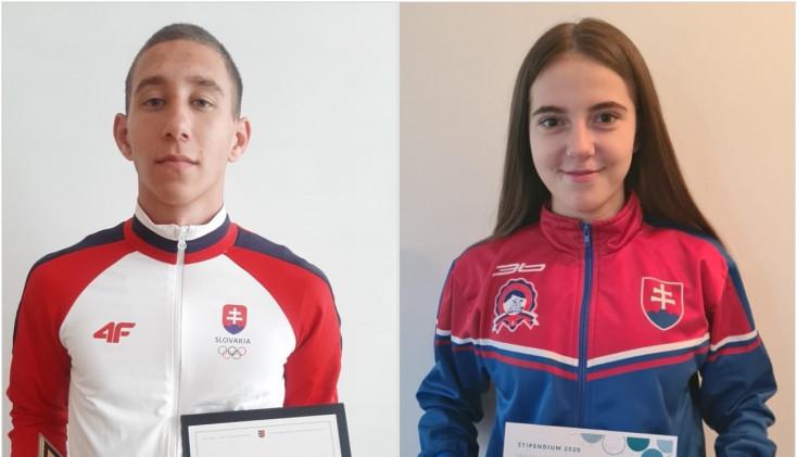 Megyei ösztöndíjban részesült a dunaszerdahelyi Középfokú Sportiskola két diákja,Csörgő Tamás és Pollák Anna