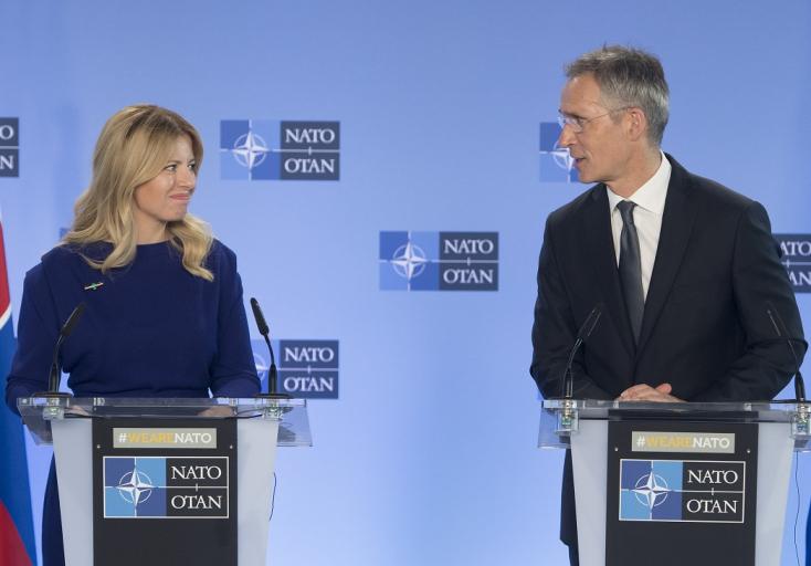 Figyelik a NATO-ban, miket mond Čaputová