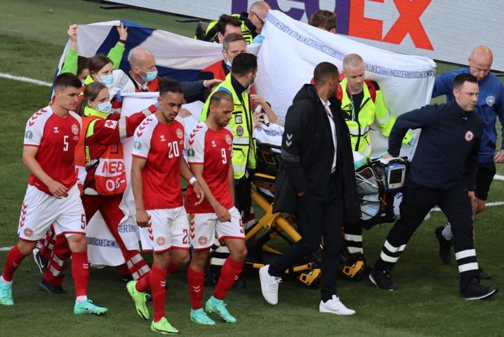 EURO-2020: Eriksen állapota stabil az újraélesztés után
