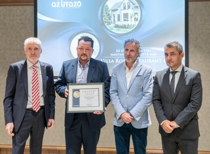 Az Utazó magazin: A dunaszerdahelyi Villa Rosa lett 2018 legjobb határon túli magyar étterme