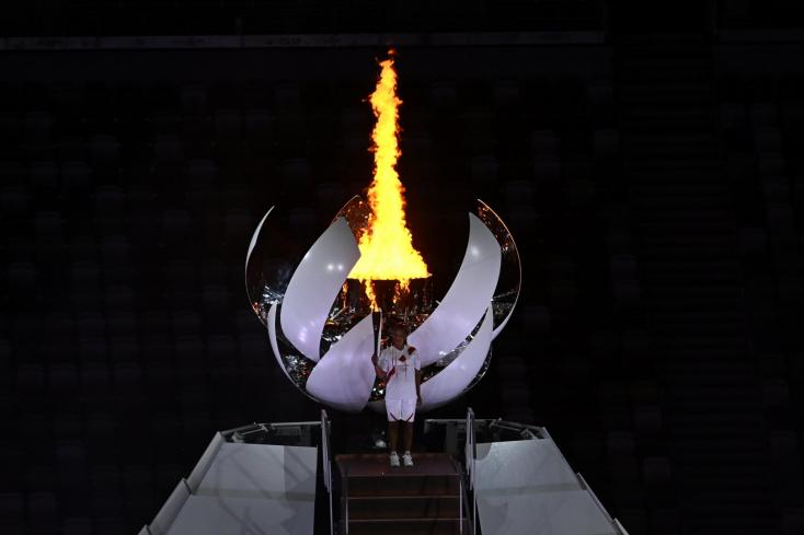 Tokió 2020 - Oszaka Naomi gyújtotta meg az olimpiai lángot