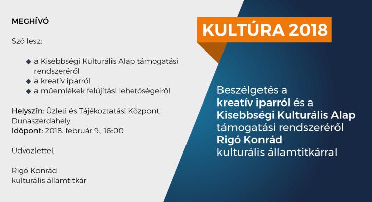 Dunaszerdahelyen lehet beszélgetni a kulturális minisztérium államtitkárával