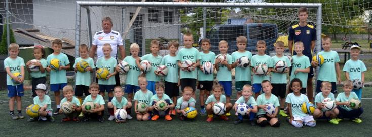 A futballábécét tanulták a gyerekek