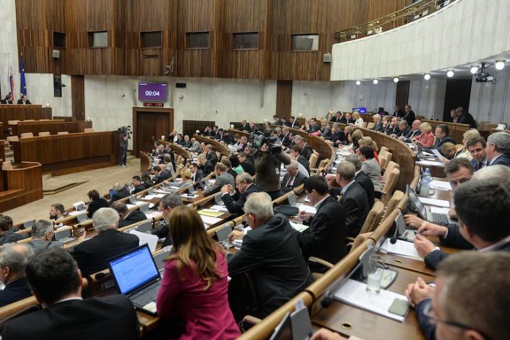 Törvényt hozott a Jobbik ellen a szlovák parlament