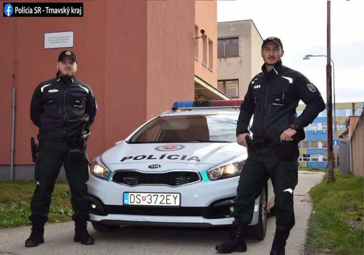 Életet mentett karácsonykor két szolgálatos rendőr Dunaszerdahelyen!