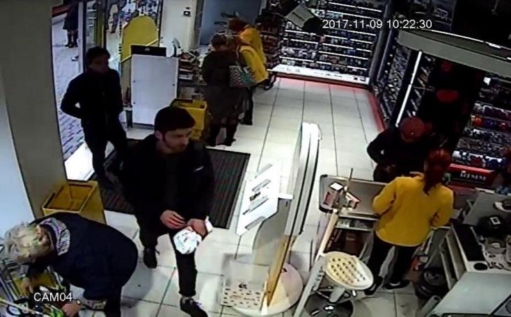 Több mint kétezer eurót lopott el a drogériából a képen látható fickó