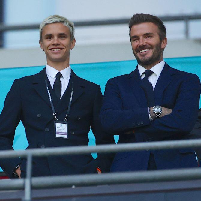 David Beckham fia bemutatkozott a profi labdarúgók között