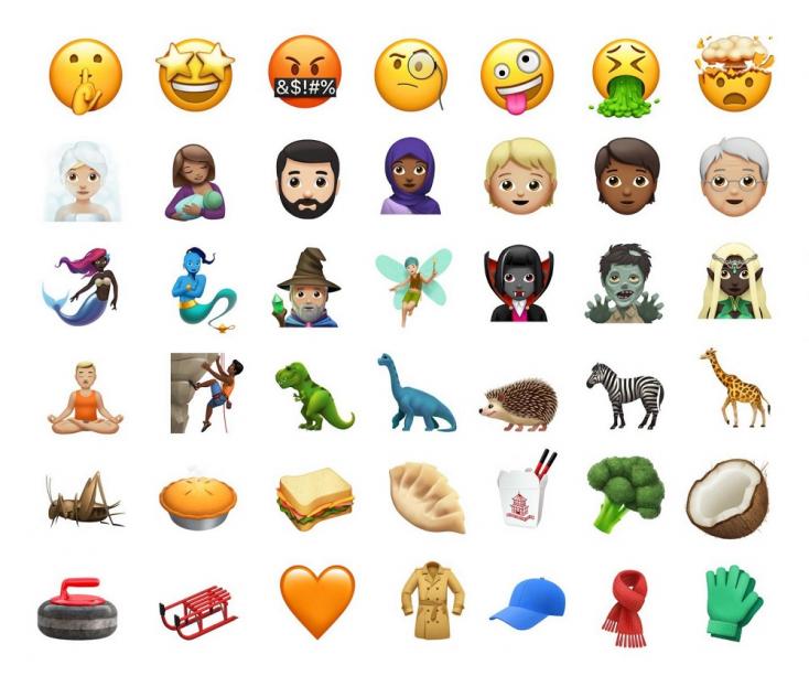 Itt vannak az új emojik, menőbbek mint valaha