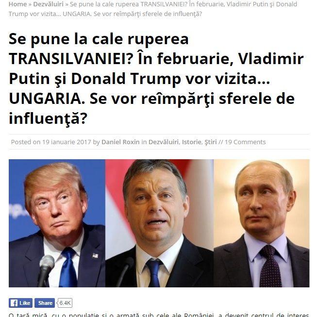 Putyin Budapesten? Akkor Románia szétszakad!