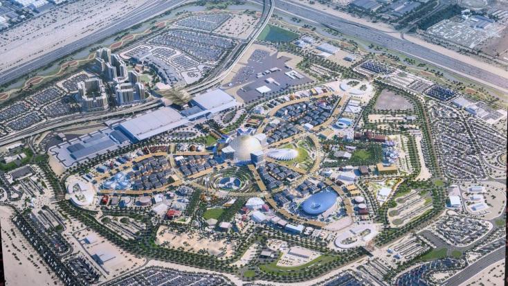 A világ egyik legnagyobb teherszállító repülőjével juttatják el a Magyar Pavilon szerkezeti elemeit a Dubaji Világkiállításra