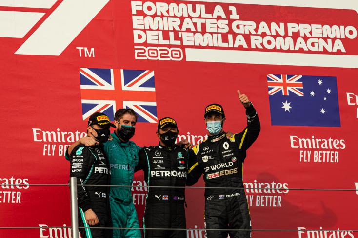 Emilia Romagna Nagydíja: Hamilton ismét nyert, világbajnok a Mercedes