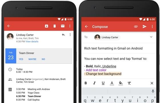 Hurrá: Már félkövérben is oszthatod az eszet az androidos Gmailen!