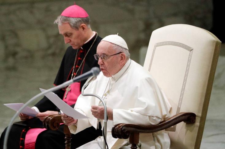 """Ferenc pápa: """"Az egyház tagjainak bűnei miatt nem az egyházat kell elpusztítani"""""""