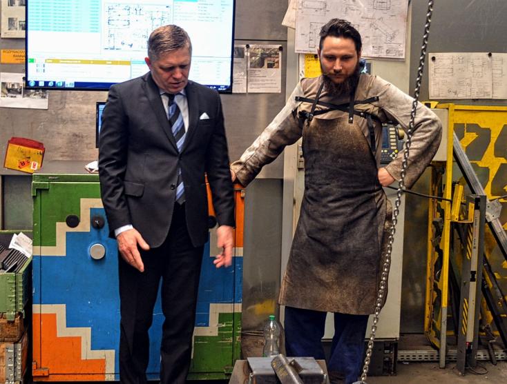 Fico megtekintette, hogy dolgozik a csallóközi