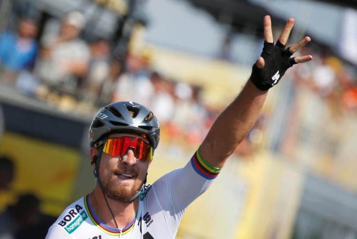 Tour de France: Sagan nyerte a sprintet, átvette a sárga trikót is