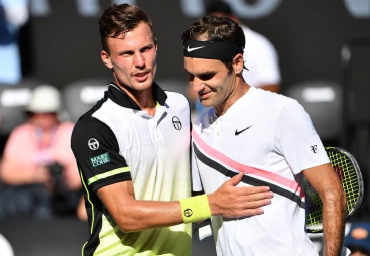 Fucsovics megszorongatta Federert, de csoda nem történt