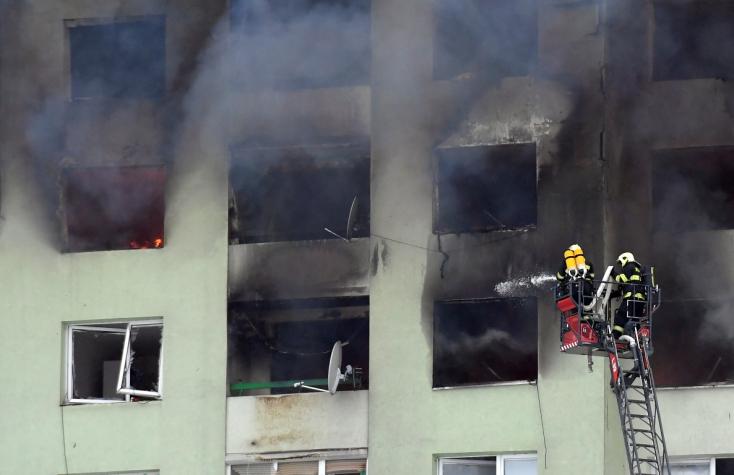 Eperjesi gázrobbanás: Szakértők szerint a felső szinteket le kell bontani