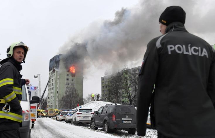 Eperjesi gázrobbanás: Eddig kilenc sérültet láttak el a helyi kórházban, öten életüket vesztették