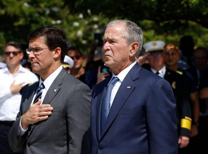 Az exelnök Bush szerint Amerika ma bizonytalan helyzetben van