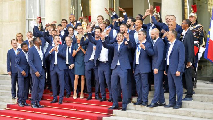 Becsületrendet kapnak a francia válogatott labdarúgói