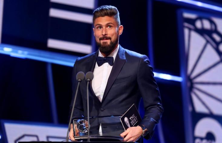 Olivier Giroud skorpiórúgása nyerte a Puskás-díjat