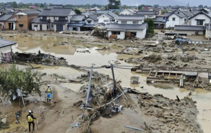 Nőtt a Hagibis tájfun halálos áldozatainak a száma Japánban