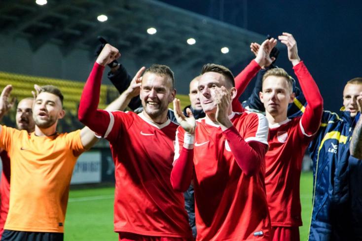 II. labdarúgóliga, rájátszás, 2. forduló: Poprádon hengereltek az élvonalba igyekvő besztercebányaiak