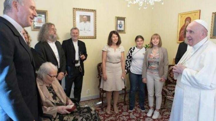Róbert Bezák nyugalmazott érsekkel találkozott Ferenc pápa