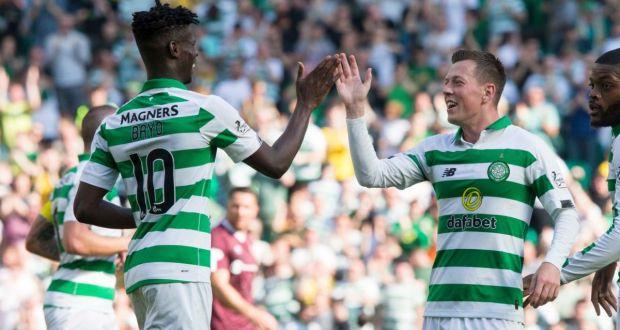 Először volt a Celtic kezdőjében, máris két gólt rúgott Bayo