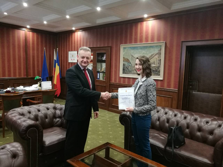 Megkapta megbízatását Dunaszerdahely új diákpolgármestere
