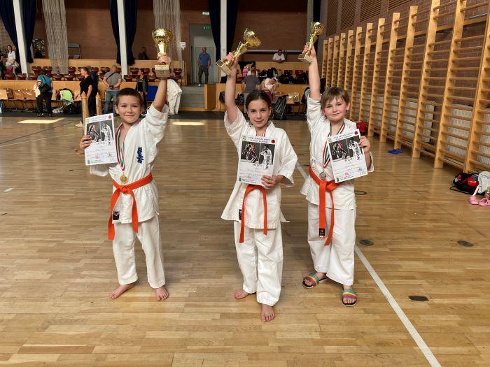 Érmekkel tértek haza a bősi Oyama dojo karatézói