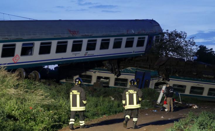 Halálos vasúti baleset történt Olaszországban