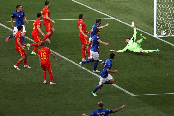 EURO-2020: Magabiztosan nyertek az olaszok, Wales is továbbjutott