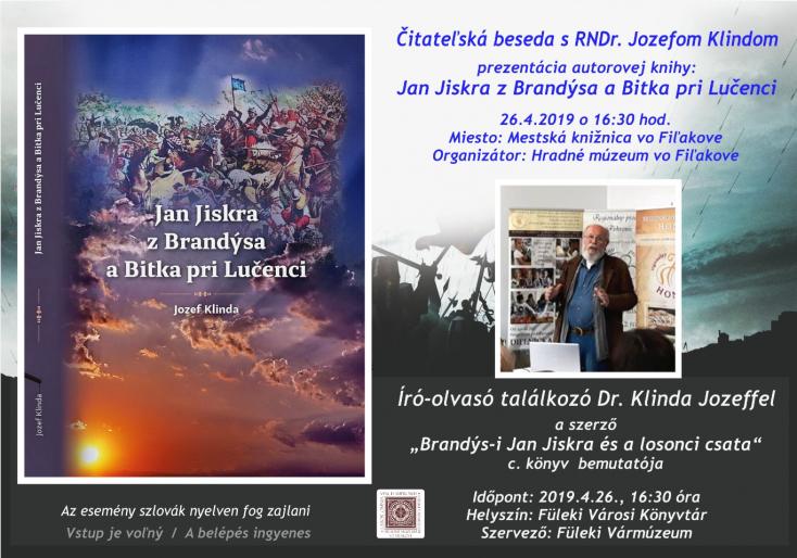 Író-olvasó találkozó Dr. Jozef Klindával aFüleki Városi Könyvtárban