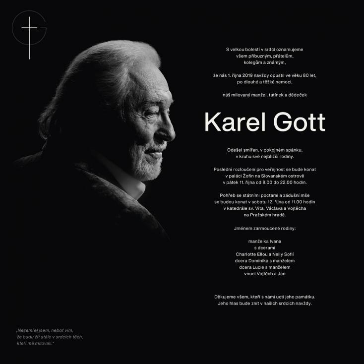 Elkészült Karel Gott sírja, meg a hozzá elvezető térkép is
