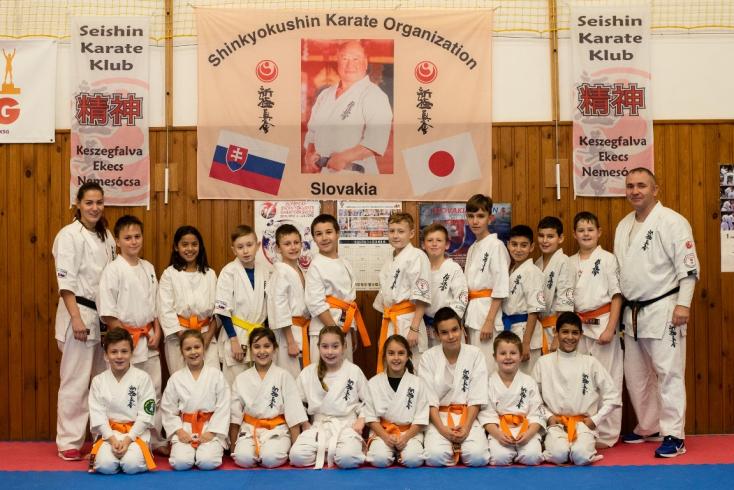 Övvizsgák zajlottak a a Seishin Karate Klub tagjai számára Dunaszerdahelyen és Keszegfalván