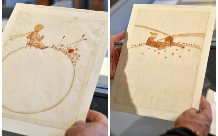 Saint-Exupery A kis herceghez készült két vízfestménye félmillió euróért kelt el