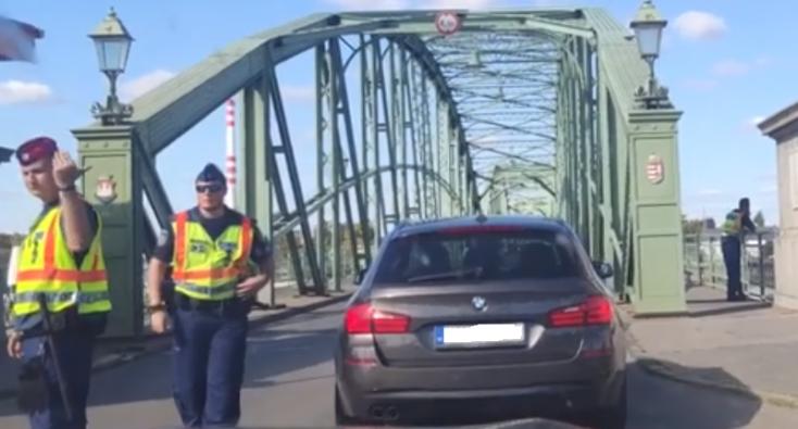 Komáromban mindenféle ellenőrzés nélkül át lehet jutni a határon (VIDEÓ)