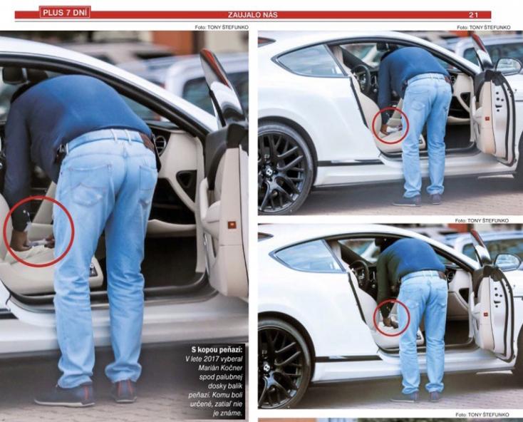Nicsak: Előkerült egy kép, melyen Kočner épp egy valag pénzt kotor elő a Bentley-jéből!