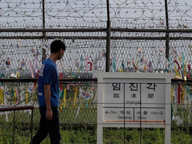 Sikerült átszöknie a határon egy férfinak Dél-Koreába