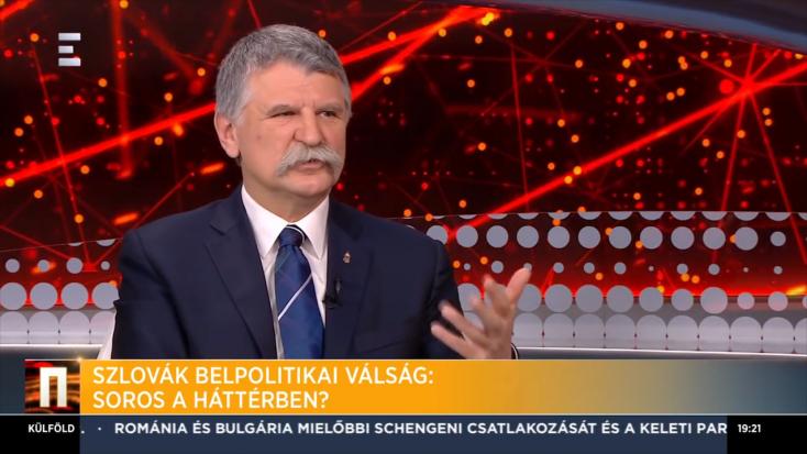Kövér: A felvidéki magyarok szerint Soros áll a pozsonyi tüntetések hátterében VIDEÓ