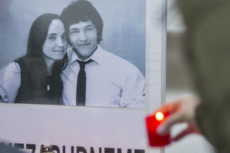 A meggyilkolt Ján Kuciakra felnéznek a galántai kórházban is