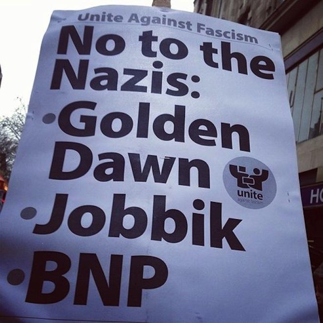 """Megszívta Londonban """"Európa legsikeresebb fasisztája"""", Vona Gábor"""