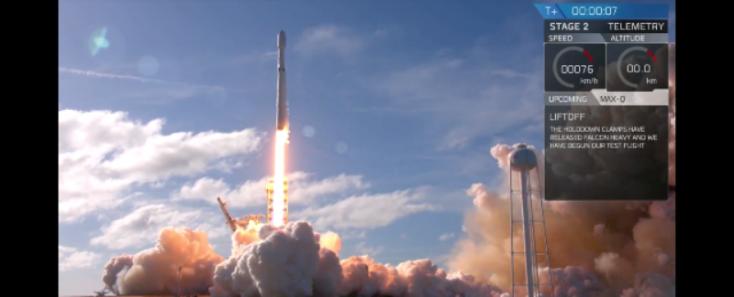 Elon Musk: A Falcon Heavy harmadik gyorsítórakétája megsemmisült VIDEÓK