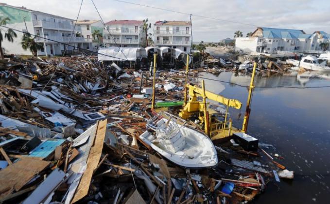 Rombolás és pusztulás a Michael hurrikán nyomában Floridában