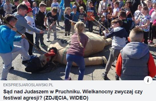 """Gyerekek végeztek ki egy """"zsidót"""", száz kilométerre a határainktól tombol a húsvéti rituálé"""