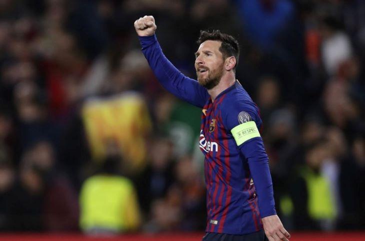 Messi képét vetítették a milánói dómra - FOTÓ