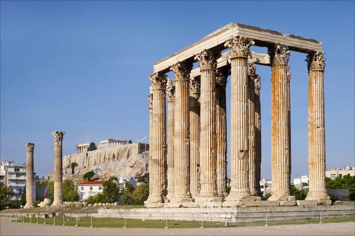 Megkezdődött az egyik legnagyobb ókori templom, az athéni Olümpieion restaurálása