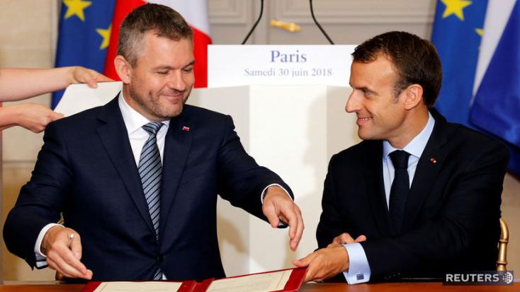 Pellegrinivel tárgyalt Macron, elvetette az EU-n belüli blokkok logikáját